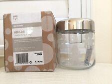 """ALESSI Glass Jar Kitchen Girotondo Medium Sz design KING KONG 25.5oz 4""""x5"""" NIB"""