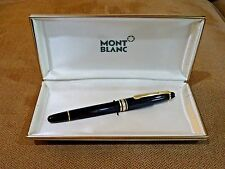 Vintage Montblanc Meisterstuck 144 Fountain Pen w/ Push In Converter & Box - EUC