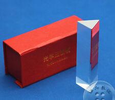 10cm Prisma Óptico Refractor Luz Spectrum Arcoiris Física Enseñar K9 Cristal