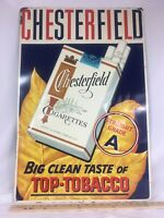 Vintage Chesterfield Cigarettes Buy Your Cigarettes Here Metal Sign 19x29