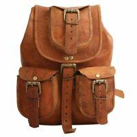 New Handmade Vintage Leather Backpack Rucksack Travel Bag For Men's and Women's