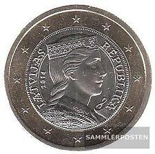 lettonie LET 7 2014 brillant universel (BU) 2014 monnaie en cours legal 1 euro