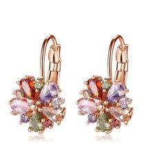 Charming Women Jewelry Gifts Mix Color Amethyst Garnet Gems Topaz Earring 1 Pair
