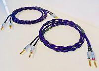 Audiophile 14AWG Speaker Cable Banana/Spade Custom Lengths ETHEREAL