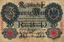 Ro 47a 20 mark 1914 serie e/l letras oscuras