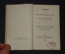FABLES FOR THE HOLY ALLIANCE: Rhymes on the Road: Song / Poetry / Religion 1823