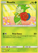 4x Roselia - Pokemon Sun & Moon Ultra Prism #4 - NEW