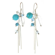 New Old Stock Sterling Silver Turquoise Drop Earrings