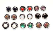 Wholesale Lot 20 Pair AMETHYST Gemstone 925 Sterling Silver Plated Stud Earring