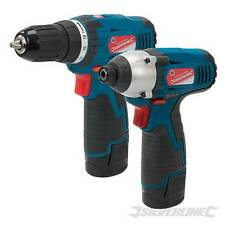 Silverline 347862 Silverstorm 10.8V Drill Driver & Impact Driver Twin Pack Screw