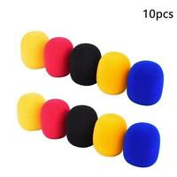10X Random Color Handheld Stage Microphone Windshield Mic Cover TOP Karaoke Y0E2