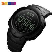 SKMEI Men Sport Watches Fashion Pedometer Calorie Bluetooth LED Smart Wristwatch