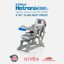 "Stahls' Hotronix Auto Open 6"" x 6"" Clam Heat Press **Free Shipping!!"