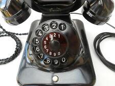 ALTES BAKELIT TELEFON  W48 + Mix & Genest  + Juni / 1951 + Wählscheibe + wie neu