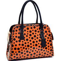 Dasein Women Handbags Patent Faux Leather Satchels Medium Purse Shoulder Bags