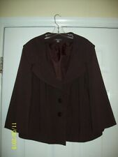 APT. 9  BROWN Lined BLAZER JACKET SZ 24W PLUS Long Sleeves 4 Buttons EXCELLENT