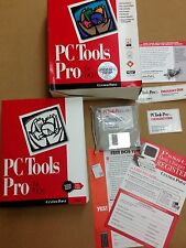 PC Tools Pro 9.0 For DOS 3 1/2 Floppy Disks User Guide Stickers NOS RARE