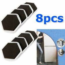 8Pcs Magic Mover Moving Sliders Pads Furniture Gliders Carpet Flooring Coaster