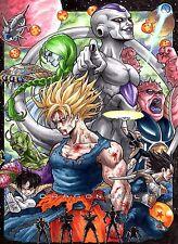 Dragon Ball Z-Goku/Frieza/Vegeta Mate poster print-Compre 2 lleve 1 Gratis