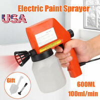 600ML Electric Paint Sprayer Tooll Hand Held Spray Gun Painter Painting Airless