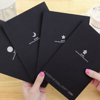 56K Sketchbook Diary Drawing Painting Graffiti Soft Cover Black Paper Notebook