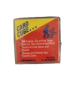 1990 Megacards Card Cubes Collection 150 Topps Don Out of Print Cards Item #1522