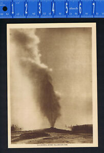 OLD FAITHFUL GEYSER, YELLOWSTONE NATIONAL PARK 1915 Mentor Gravure