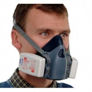 7500 Series Half Mask Optional 6035 Filters P3 Reusable Respirator Size M / L