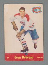 1955-56 Parkhurst Hockey #44 Jean Beliveau Montreal Canadiens