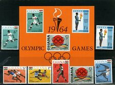GHANA 1964 Sc#179-185a SUMMER OLYMPIC GAMES TOKYO SET OF 7 STAMPS & S/S MNH