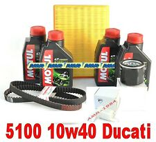 DUCATI MONSTER 600 750 FILTER KIT + Öl MOTUL 5100 10W40 RIEMEN ORIGINAL