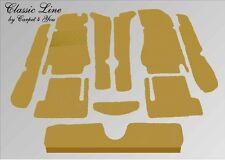 kompl. Teppich Satz Fiat 124 Spider Velour Dattel 310 Autoteppich