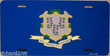 Aluminum License Plate US State Connecticut flag NEW