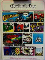 Morning Paper | Quicksilver  | Art by Rick Griffin | Orig. FD89 1967 Postcard