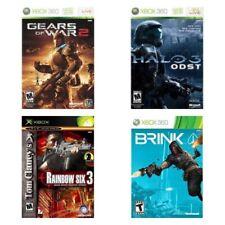 Xbox 360 Halo Odst, Tom Clancy's Rainbow Six 3, Gears Of War 2, Brink Shooter