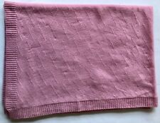 LILLY PULITZER BALLET SLIPPER  PINK 100% CASHMERE CABLE-KNIT BABY BLANKET