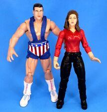 Wwe Jakks Titan Tron Live Kurt Angle & Stephanie McMahon Figure Lot Wwf_s73