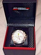 $395 New in box FERRARI Scuderia quartz watch Racing Chronograph Leather band
