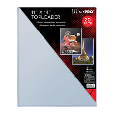 "Pack of 20 Large Toploaders 11"" x 14"" Clear Magazine Print Holder Ultra Pro New"