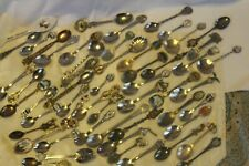 Vintage lot of 54 mixed collector souvenir worldwide spoons