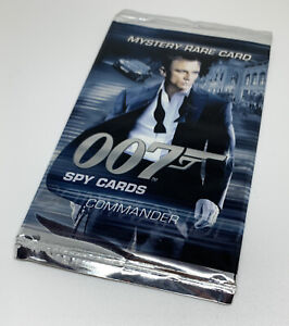 James Bond 007 Commander Spy Cards Mystery Rare Booster Pack Sealed Packet