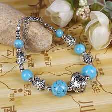 DIY NEW Fashion Free shipping Jewelry Tibet jade turquoise bead bracelet S257