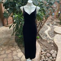 Vintage Black Velvet Knit Evening Dress