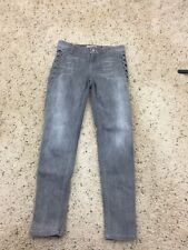 Guess Los Angles 1981 Gray Embellished Logo Skinny Denim Jeans Size 31 (27 x 27)
