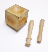 WOOD DENT REMOVER DAPPING BLOCK SET 2 PUNCHES JEWELRY DESIGN WOODEN FORMING TOOL