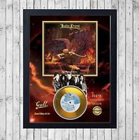JUDAS PRIEST SAD WINGS OF CUADRO CON GOLD O PLATINUM CD EDICION LIMITADA. FRAMED