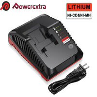 18V Battery Charger for Porter Cable PCXMVC Lithium & NiCd NiMh Slide PC18B US