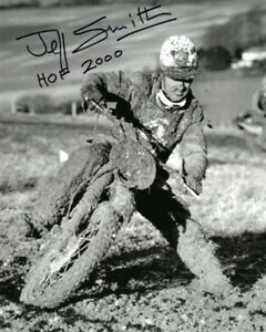 JEFF SMITH SIGNED 8x10 PHOTO + HOF 2000 BRITISH MOTOCROSS LEGEND BECKETT BAS
