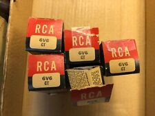 5 NOS NIB Matched Vintage 1949/1950 RCA 6V6GT Smoked Glass Tubes Test Strong