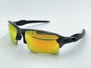 Oakley Flak 2.0 Xl OO9188-10 Sunglasses Gray Ink/Fire Iridium Lens DAMAGED LENS